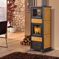 Edilkamin Dafne Forno fatüzelésű kályha bőrszín kerámia felső füstkivezetésű 7,2kW