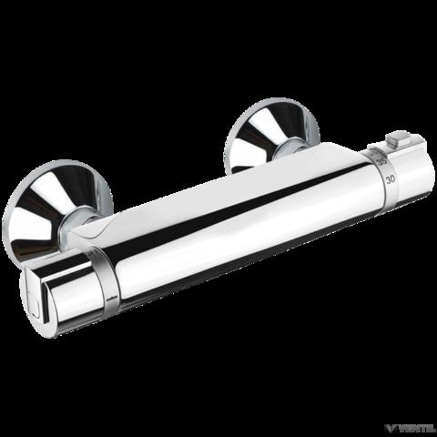 Mofém Junior Evo fali termosztátos zuhany csaptelep zuhanyszettel, állítható fali rúddal