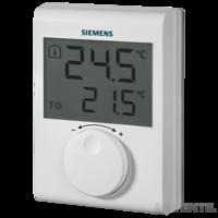 Siemens RDH 100 digitális szobatermosztát nagyméretű LCD-kijelzővel