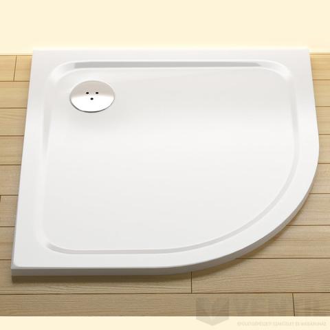 Ravak Elipso Pro Chrome 80 negyedköríves zuhanytálca, 80x80 cm, fehér, öntött műmárvány