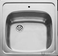 Mofém EVO 1B rozsdamentes mosogató, 465x465 mm, 1 medencés, leeresztő garnitúrával