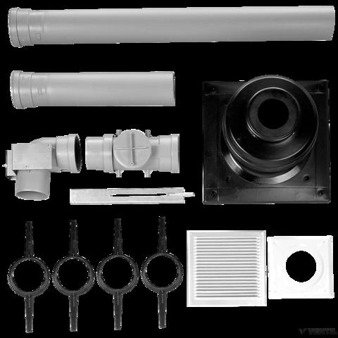 Bosch 100 mm-es égéstermék-elvezető készlet kéményben történő vezetéshez, L=500 mm (AZB 828)