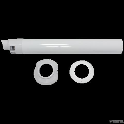 Vaillant 80/125 mm-es PP vízszintes kialakítású, koncentrikus átvezető