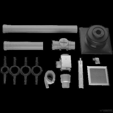 Bosch 100 mm-es égéstermék-elvezető készlet kéményben történő vezetéshez, L=1800 mm (AZB 650/1)