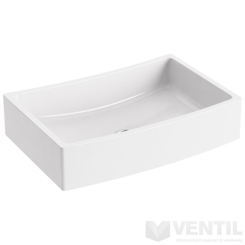 Ravak Formy 02 500 D hajlított mosdó, 50x41 cm, beépíthető, fehér öntött műmárvány