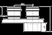 TRICOX PAD5020 PPS/ALU 60/100 OSZTÓ ADAPT. 2X80