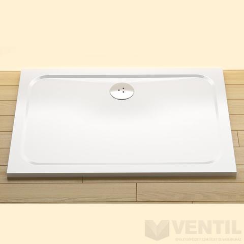 Ravak Gigant Pro Chrome téglalap alakú zuhanytálca, 120x80 cm, fehér, öntött műmárvány
