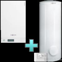 Viessmann Vitodens 100-W Touch 19 kW gázkazán, kondenzációs hőközpont Vitocell 100-W 300 L bivalens tárolóval EU-ERP