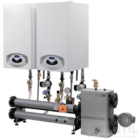 Ariston Genus Premium EVO HP 100 KW kondenzációs fűtő gázkazán EU-ErP