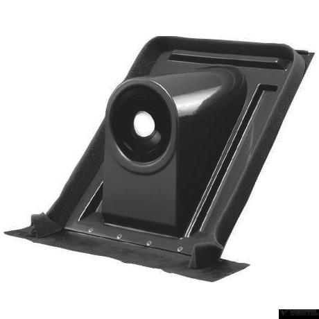 Bosch 45 - 60°-os vízszintes tetőátvezetés, ferde tetőhöz, sötétszürke (AZ 123)