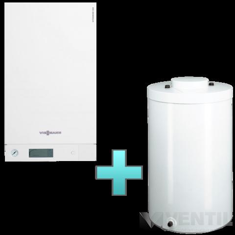 Viessmann Vitodens 100-W Touch 26 kW gázkazán, kondenzációs hőközpont Vitocell 100-W 100 L tárolóval EU-ERP