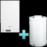 Viessmann Vitodens 100-W Touch 35 kW gázkazán, kondenzációs hőközpont Vitocell 100-W 120 L tárolóval EU-ERP