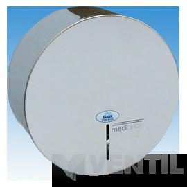 B&K Mediclinics ipari WC papír tartó közepes tekercshez, rozsdamentes acél, fényes, 250x125mm
