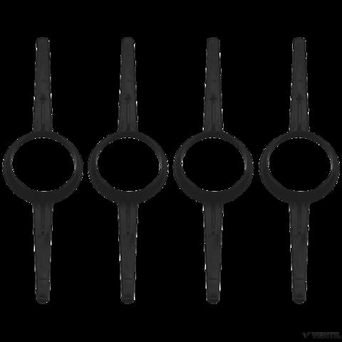 Bosch 100 mm-es távtartó, 100 mm-es égéstermék-elvezetéshez (4 db) (AZB 649)