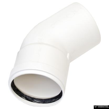 Ariston 80 mm-es PP 45°-os könyökidom
