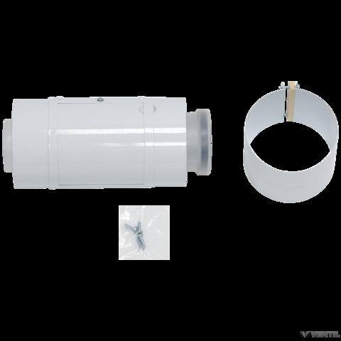 Vaillant 80/125 mm-es PP tisztító nyílással ellátott elem koncentrikus rendszerekhez