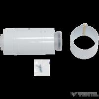 Vaillant 60/100 mm-es PP tisztító nyílással ellátott elem koncentrikus rendszerekhez