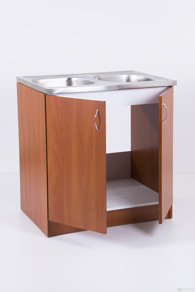 40ea7a7a5190 HB mosogató szekrény kétmedencés mosogatótálcával 850x800x600 mm (kalvados)