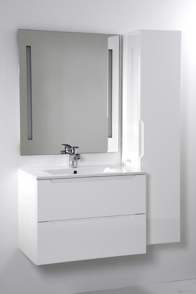 HB Elit 70 fürdőszoba szekrény mosdóval 520x700x460 mm (magasfényű fehér) a0e7d890ef