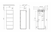 Vaillant auroCOMPACT VSC D 206/4-5 190 álló kondenzációs gázkazán beépített rétegtárolóval (+solar) EU-ErP