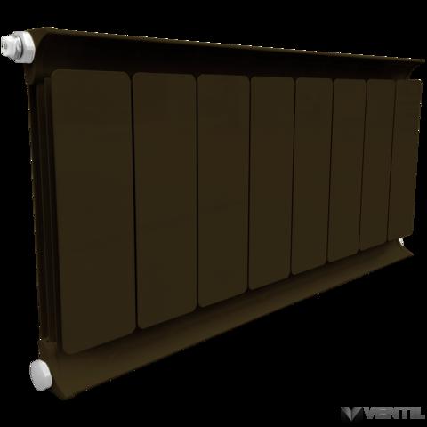 Romantik radiátor 900x12 tag eloxált mahagóni