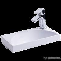 Ravak Rainbow Mini 400 mosdó, 40x22 cm, szabadon álló/beépíthető, fehér, csaplyukkal