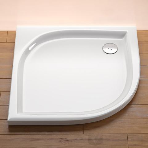 Ravak Elipso 80 LA negyedköríves zuhanytálca, 80x80 cm, fehér, akril