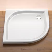 Ravak Elipso 80 EX negyedköríves zuhanytálca, 80x80 cm, fehér, akril