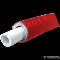 Silver  ötrétegű aluminium betétes cső 20x2 szigetelt piros