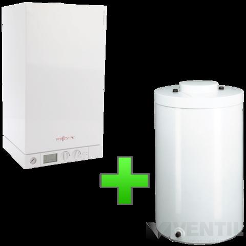 Viessmann Vitopend 100-W 24KW fűtő kéményes gázkazán 120 literes tárolóval