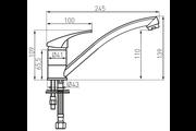 Ferro Basic egykaros álló mosogató csaptelep forgatható kifolyócsővel