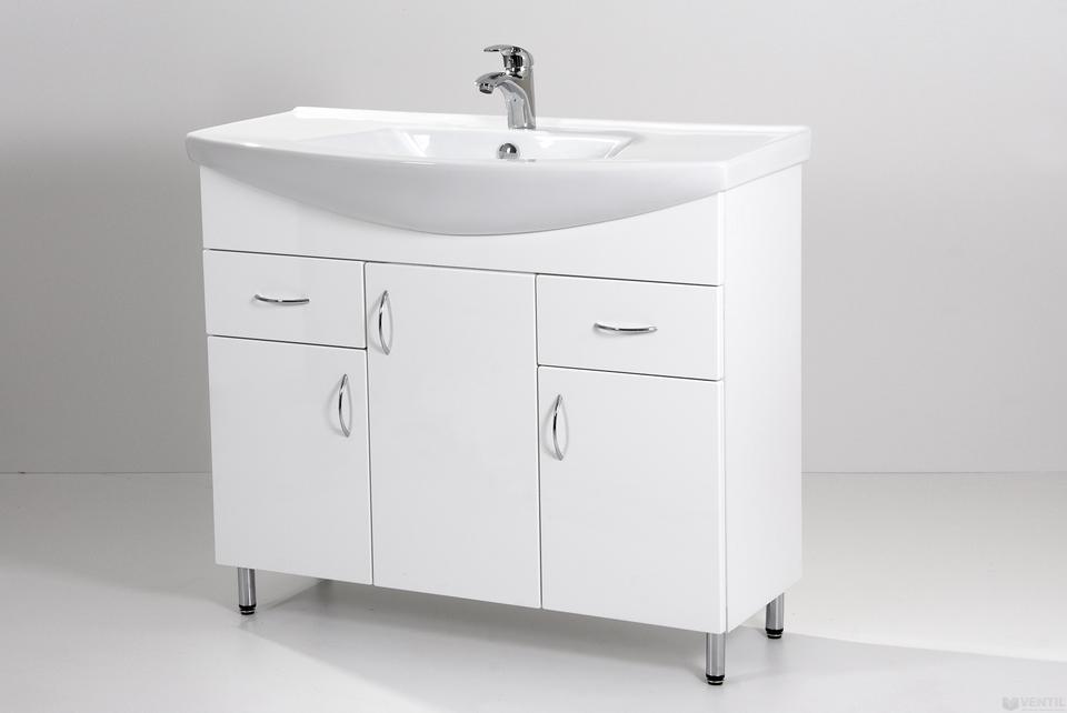 HB Standard 100 fürdőszoba szekrény mosdóval 850x1000x350 mm b1bb151d14
