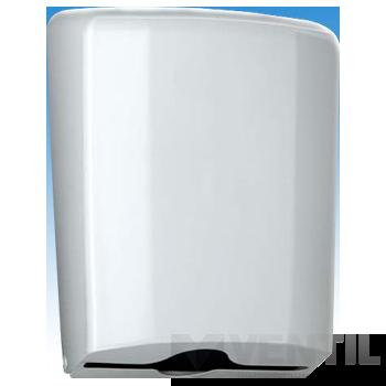 B&K Losdi papírtörölköző tartó, zárható, műanyag, fehér