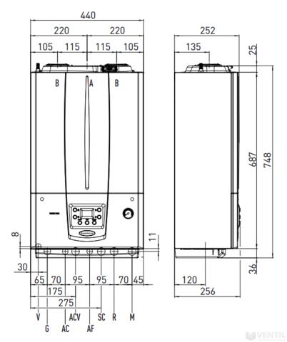 Immergas Victrix Tera 28 kondenzációs kombi gázkazán EU-ERP