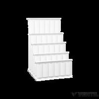Romantik Plus fehér szinterezett aluminium radiátor 250mm kötéstáv 1 tagos