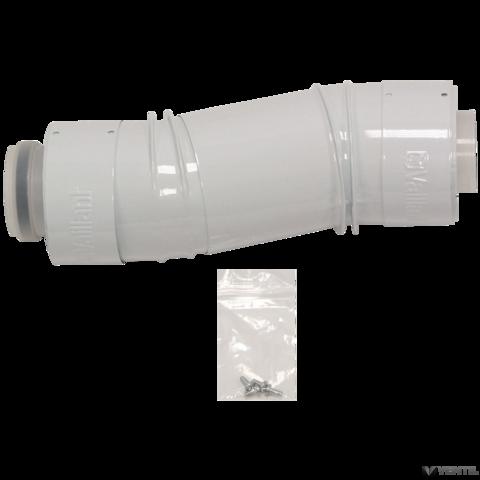 Vaillant 60/100 mm-es PP teleszkópos, koncentrikus illesztő idomcső