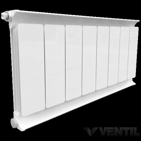 Romantik Classic fehér szinterezett aluminium radiátor 1600mm kötéstáv 1 tagos