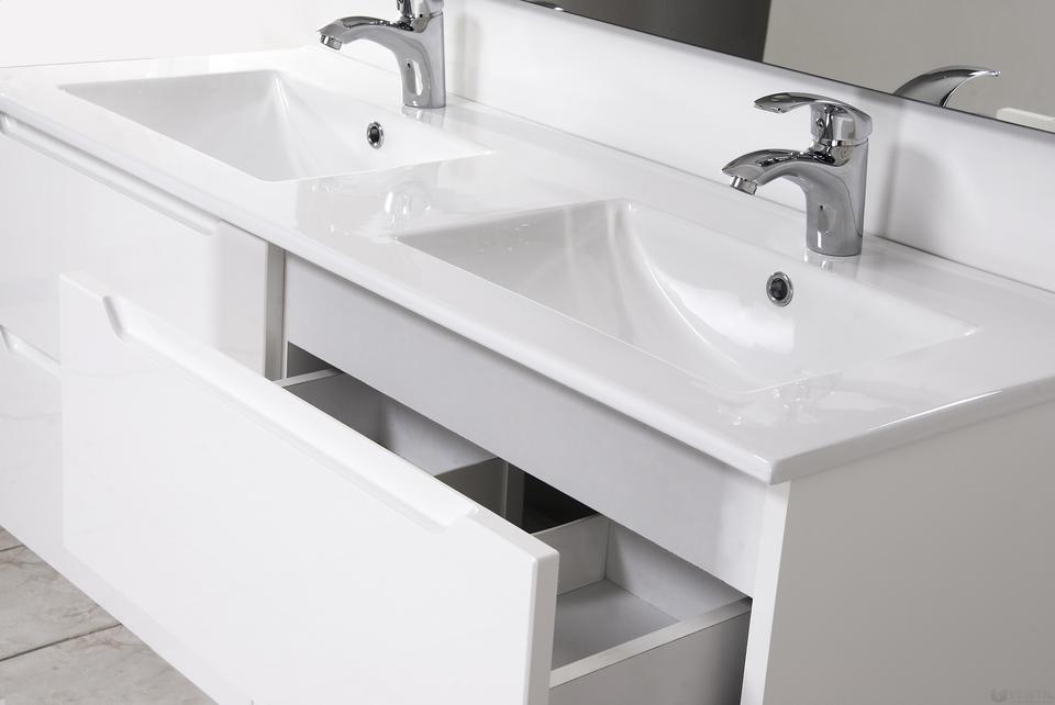 HB Elit 120 fürdőszoba szekrény dupla mosdóval 520x1200x460 mm (magasfényű  fehér) c6977c637a