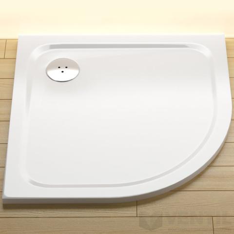 Ravak Elipso Pro Chrome PRO-90 zuhanytálca, 90x90 cm, fehér, negyedköríves, öntött műmárvány