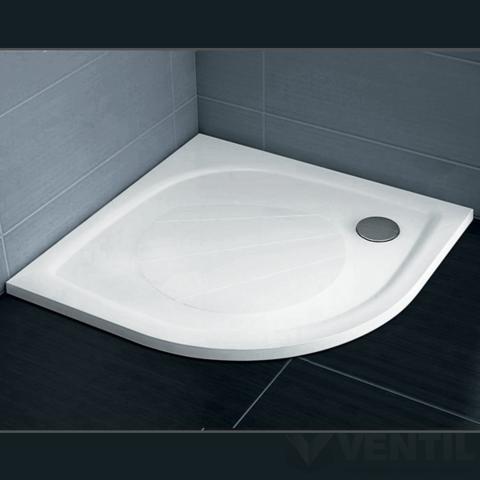 Ravak Elipso Pro PRO-90 zuhanytálca, 90x90 cm fehér, negyedköríves öntött, műmárvány