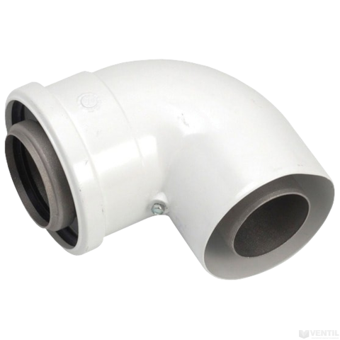 Vaillant 80/125 mm-es PP könyökidom koncentrikus rendszerekhez