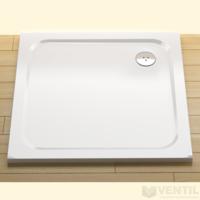 Ravak Perseus Pro Chrome 80 négyzet alakú zuhanytálca, 90x90 cm, fehér, öntött műmárvány