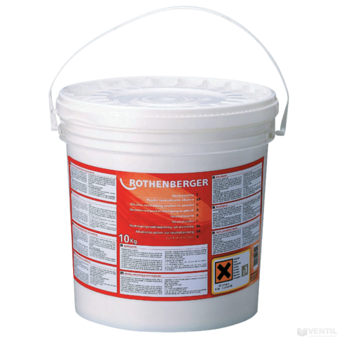 Rothenberger Rocal Chemie vízkőoldó semlegesítő por, 10 kg