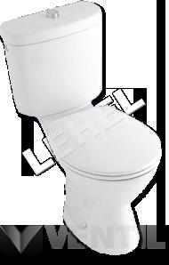 Alföldi Solinar 6003.19 hátsó kifolyású , mély öblítésű, fehér színű, monoblokkos WC csésze