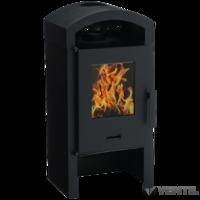 Wamsler SVT Comfort szabadon álló kandalló, íves burkolat, fekete, 8 kW