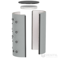 Flamco szigetelés PS, PS R, PS T puffertartályhoz, 850L, fehér, alu bevonatos