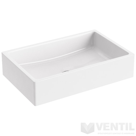 Ravak Formy 01 600 D mosdó, 60x39 cm, beépíthető, fehér öntött műmárvány