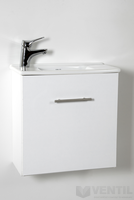 HB Merkur függesztett mosdós szekrény 500x500x260 mm (fehér)