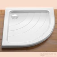 Ravak Ronda 80 PU zuhanytálca, 80x80 cm, fehér, negyedköríves, akril
