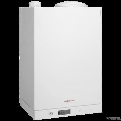 Viessmann Vitodens 111-W Touch 35 kW gázkazán, kompakt kondenzációs fali hőközpont beépített 46 L nemesacél tárolóval EU-ERP